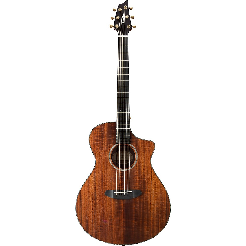 Breedlove Pursuit Exotic Concert with Koa Top Acoustic-Electric Guitar High Gloss Natural 1500000152482