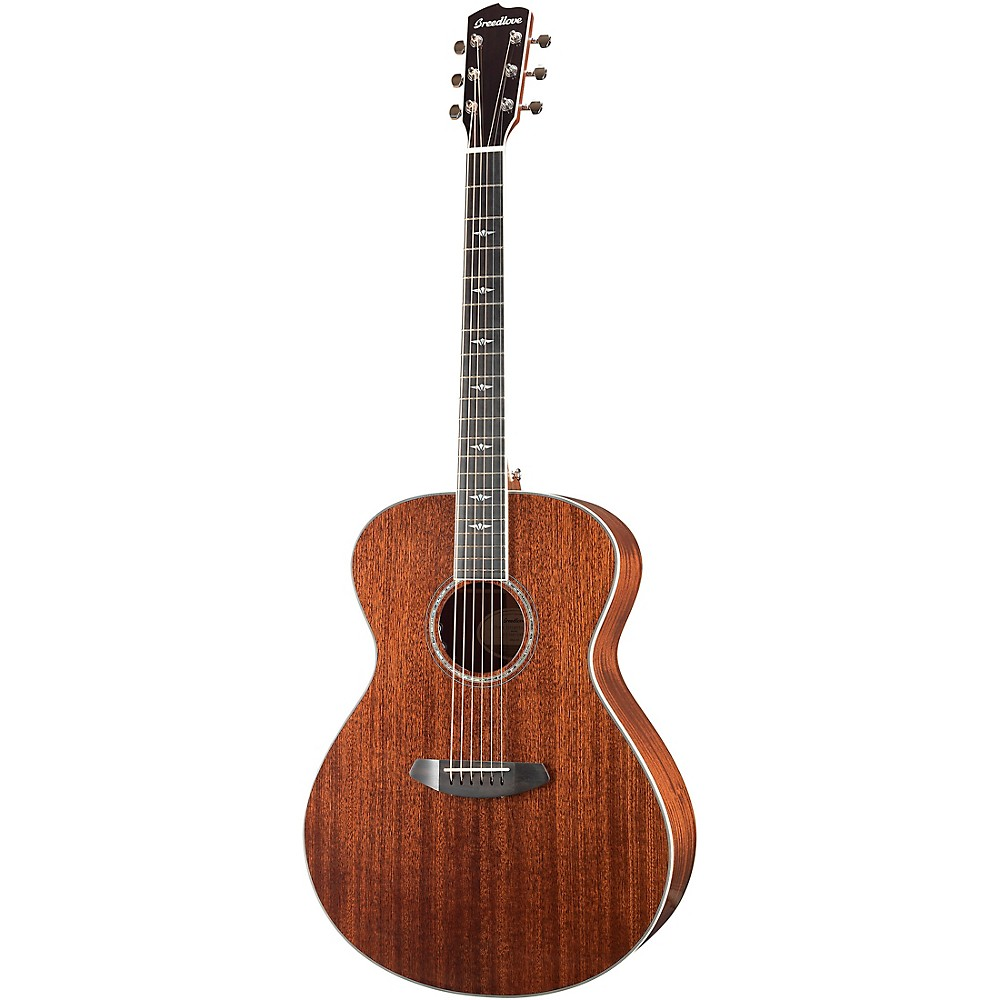 Breedlove Stage Exotic Concerto All-Mahogany Acoustic-Electric Guitar High Gloss Natural 1500000177715