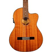 Kala KA-GTR-MTN-E Thinline Mahogany Nylon String Acoustic-Electric Guitar