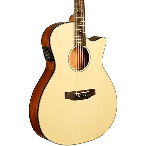 Kala KA-GTR-MTN-E Thinline Nylon String Acoustic-Electric Guitar-thumbnail