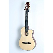 Kala KA-GTR-SMTN-E Thinline Nylon String Acoustic-Electric Guitar
