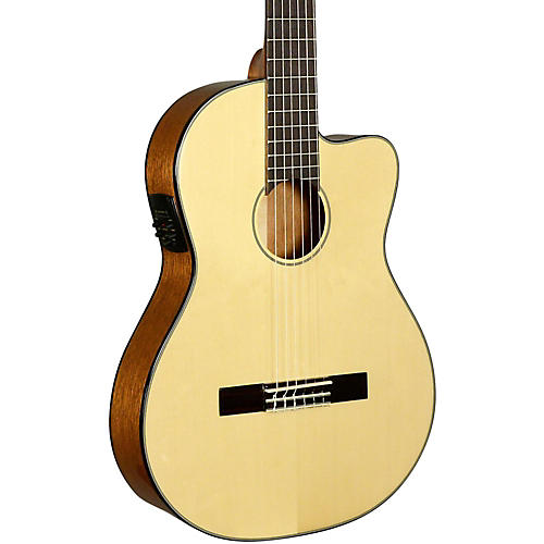 Kala KA-GTR-SMTN-E Thinline Nylon String Acoustic-Electric Guitar