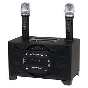 VocoPro KARAOKEDUAL All-In-One Karaoke Boom Box with Wireless Mics by VocoPro
