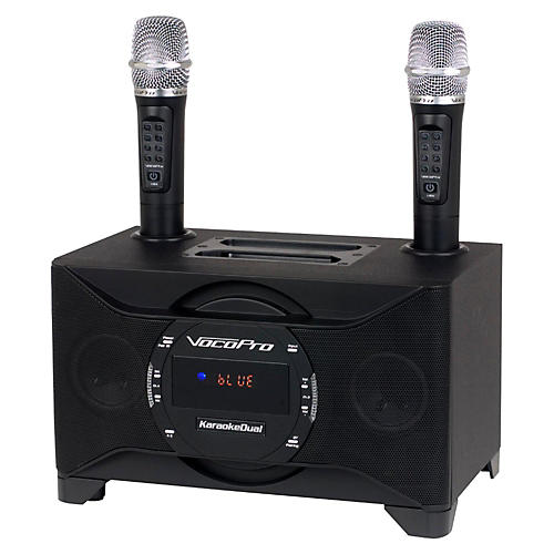 VocoPro KARAOKEDUAL All-In-One Karaoke Boom Box with Wireless Mics-thumbnail