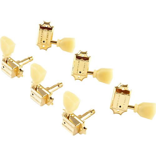 Kluson KB3L Keystone Locking Guitar Tuning Machines - 3-Per-Side Bolt Bushing