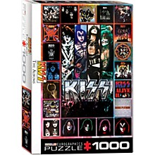 Eurographics KISS Discography Collage Puzzle