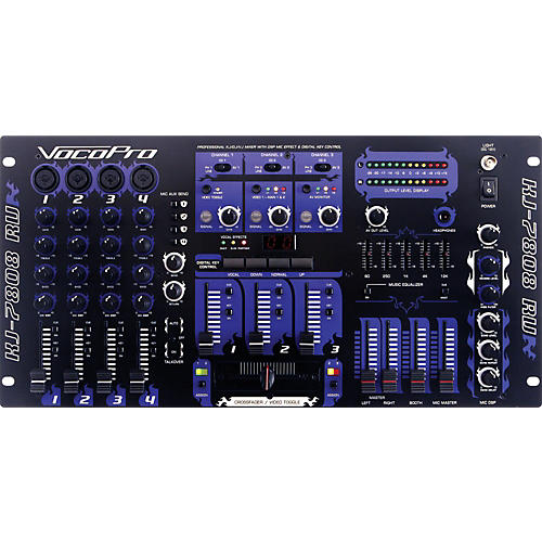 VocoPro KJ-7808RV Pro DJ and Karaoke Mixer