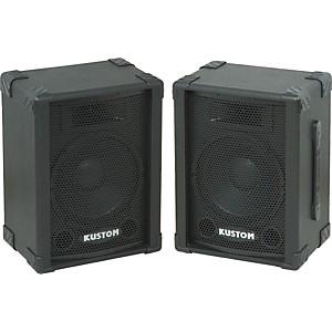 Kustom PA KPC10 10 inch PA Speaker Cabinet with Horn Pair by Kustom PA