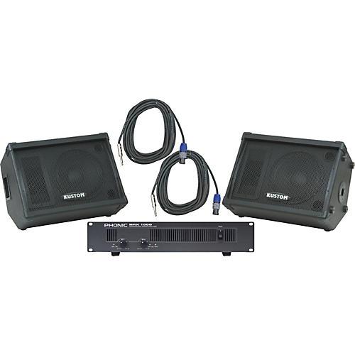 Kustom PA KPC12M / Phonic MAX 1000 Spkr & Amp Package