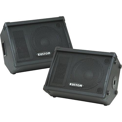 Kustom PA KPC12M 12IN Monitor Speaker Cab with Horn Pair