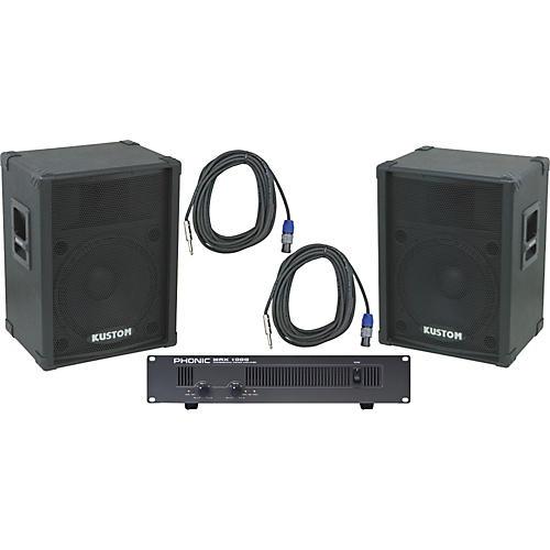 Kustom PA KPC15 / Phonic MAX 1000 Spkr & Amp Package-thumbnail