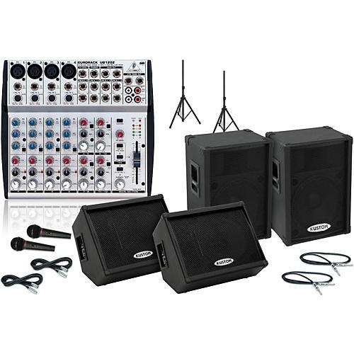 Kustom PA KPC15P / UB1202 Mains & Monitors Package-thumbnail