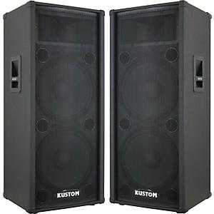 Kustom PA KPC215H 2X15 PA Cabinet Pair by Kustom PA