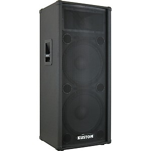 Kustom KPC215H 2x15 inch PA Speaker Cabinet with Horn by Kustom