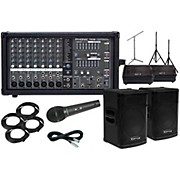 """Kustom PA KPX15 15"""" with Phonic Powerpod 780 Mains and 10"""" Monitors Package"""