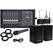 """Kustom PA KPX15 15"""" with Phonic Powerpod 780 Mains and 12"""" Monitors Package"""