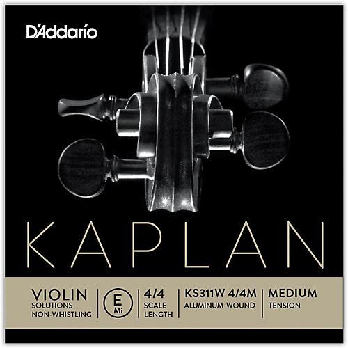 D'Addario KS 311W Kaplan Solutions 4/4 Size Non-Whistling Violin E String (Wound)