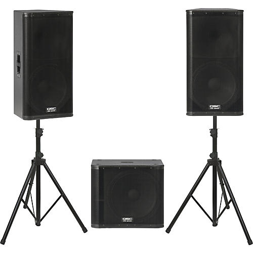 QSC KW152 /  KW181 Powered Speaker Package