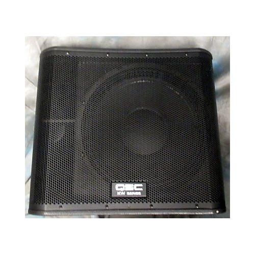 QSC KW181 1000W Black Powered Subwoofer