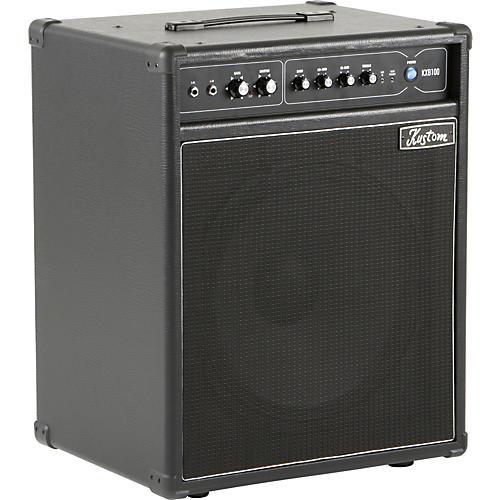 Kustom KXB100 100W 1x15 Bass Combo Amp Black-thumbnail