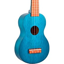 Mahalo Kahiko Series MK1 Soprano Ukulele Level 1 Transparent Blue