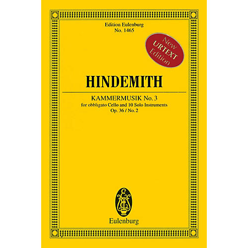 Eulenburg Kammermusik No. 3, Op. 36, No. 2 Schott Series Softcover Composed by Paul Hindemith