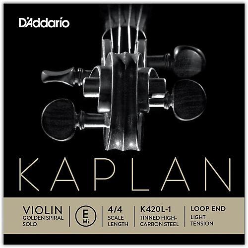 D'Addario Kaplan Golden Spiral Solo Series Violin E String-thumbnail