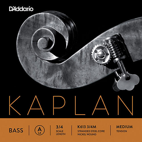 D'Addario Kaplan Series Double Bass A String 3/4 Size Medium