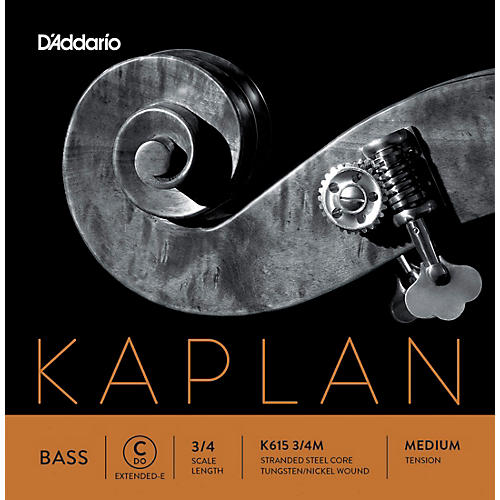 D'Addario Kaplan Series Double Bass C (Extended E) String 3/4 Size Medium
