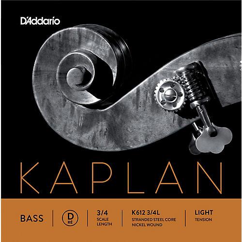 D'Addario Kaplan Series Double Bass D String 3/4 Size Light