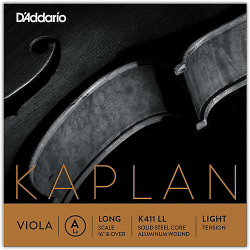 D'Addario Kaplan Series Viola A String 16+ Long Scale Light