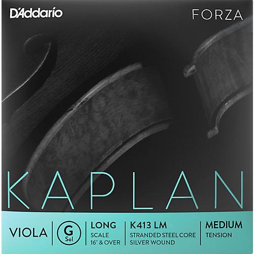 D'Addario Kaplan Series Viola G String 16+ Long Scale Medium