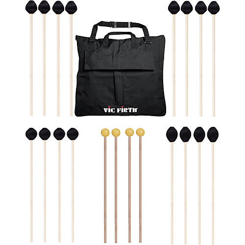 Vic Firth Keyboard Mallet 10-Pack w/ Free Mallet Bag - M182(2), M183(2), M187(4) ,M134(2)