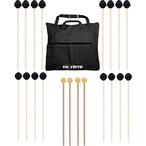 Vic Firth Keyboard Mallet 10-Pack w/ Free Mallet Bag - M182(4), M187(4) ,M134(2)