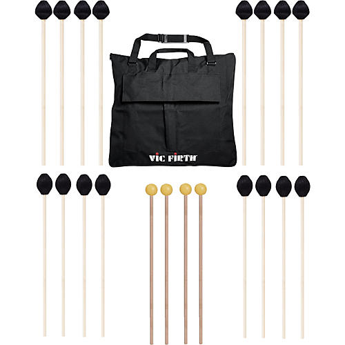 Vic Firth Keyboard Mallet 10-Pack w/ Free Mallet Bag - M183(4), M187(4) ,M134(2)-thumbnail