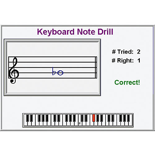ECS Media Keyboard Note Drill Hybrid CD