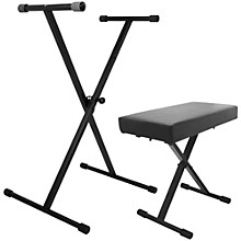 On-Stage Stands Keyboard Stand and Bench Pack Level 1