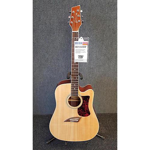 used kona kg1cen acoustic electric guitar natural guitar center. Black Bedroom Furniture Sets. Home Design Ideas