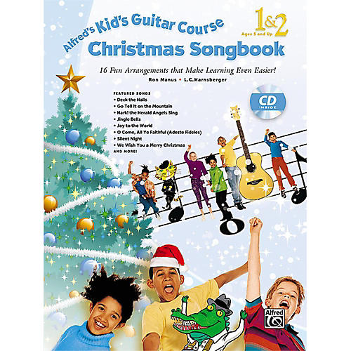 Alfred Kid's Guitar Course Christmas Songbook 1 & 2 with CD-thumbnail