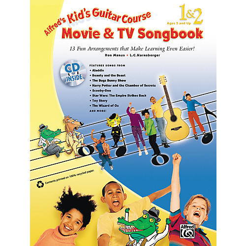 Alfred Kid's Guitar Course Movie & TV Songbook 1 & 2 (Book/CD)-thumbnail