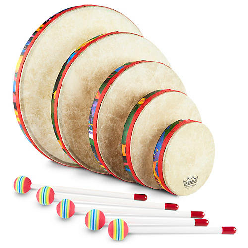 Remo Kid's Percussion Rain Forest Hand Drum Set-thumbnail
