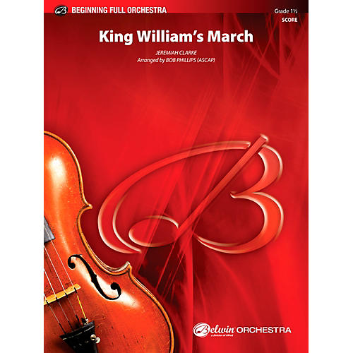 Alfred King William's March Full Orchestra 1.5 Set-thumbnail