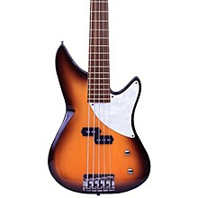 Kingston CRB 5-String Electric Bass Guitar Tobacco Sunburst Maple Fingerboard