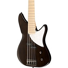Kingston CRB 5-String Electric Bass Guitar Transparent Black Maple Fingerboard