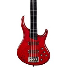 Kingston KZ 5-String Fretless Bass Transparent Cherry Ebonol