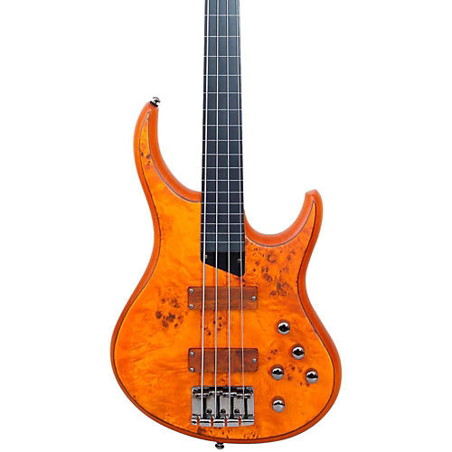 MTD Kingston KZ Fretless Bass Burled Maple Ebonol