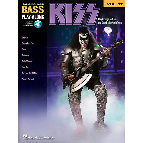 Hal Leonard Kiss - Bass Play-Along Volume 27 Book/CD-thumbnail