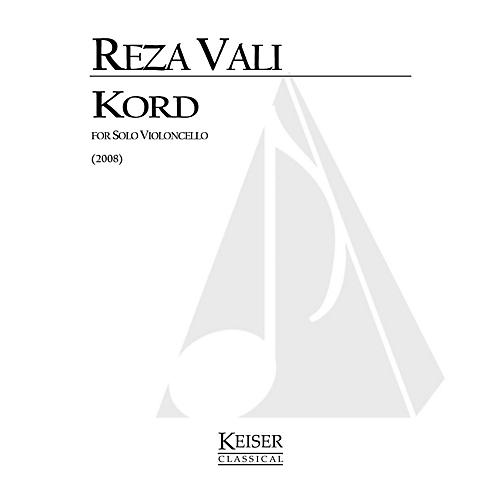 Lauren Keiser Music Publishing Kord for Solo Cello: Calligraphy No. 9 LKM Music Series by Reza Vali