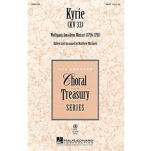 Hal Leonard Kyrie (KV33) SATB arranged by Matthew Michaels