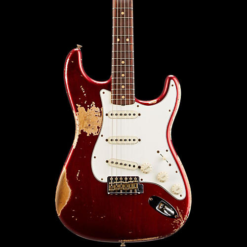 fender custom shop l series 1964 stratocaster heavy relic electric guitar candy apple red. Black Bedroom Furniture Sets. Home Design Ideas